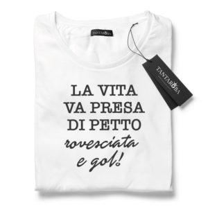 T-Shirt Petto Rovesciata e Gol